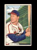 1952 Bowman Baseball Card #196 Hall of Famer Stan Musial St Louis Cardinals