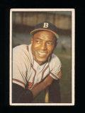 1953 Bowman (Color) Baseball Card #3 Sam Jethroe Boston Braves.  VG Conditi