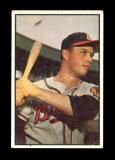 1953 Bowman (Color) Baseball Card #97 Hall of Famer Eddie Mathews Milwaukee