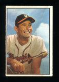 1953 Bowman (Color) Baseball Card #151 Joe Adcock Milwaukee Braves.  VG Con