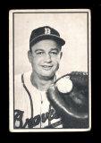 1953 Bowman (B&W) Baseball Card #30 Walker Cooper Milwaukee Braves.  G-VG C