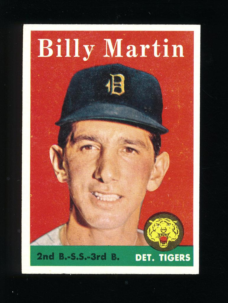 Lot 1958 Topps Baseball Card 271 Billy Martin Detroit