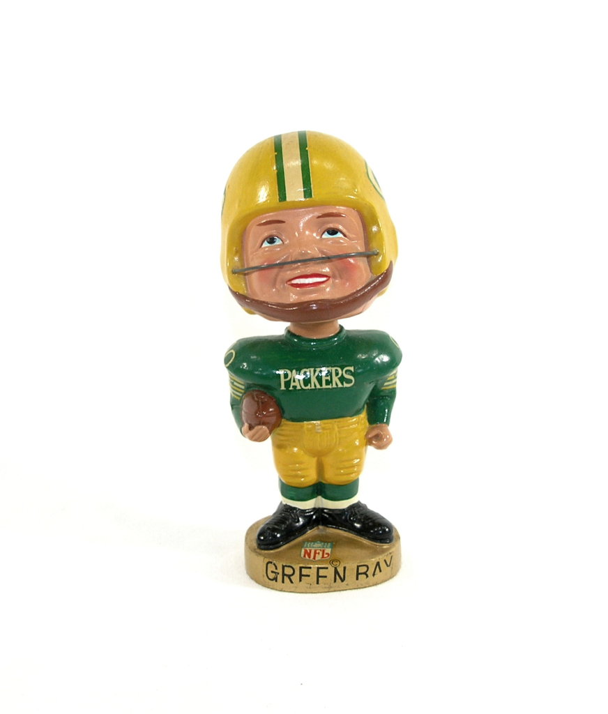 "1967 Green Bay Packers ""Real Face"" Bobblehead.   7""  $250 Value"