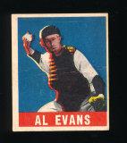 1948 Leaf Baseball Card #22 Al Evans Washington Senators. VG-EX to EX Condi