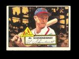 1952 Topps Baseball Card #91 Hall of Famer Red Shoendienst St Louis Cardina