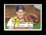 1952 Topps Baseball Card #117 Sherman Loller Chicago White Sox .VG-EX to EX