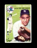 1954 Topps Baseball Card #50 Hall Of Famer Yogi Berra  New York Yankees. VG