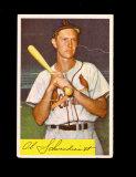 1954 Bowman Baseball Card #110 Hall Of Famer Red Schoendienst St Louis Card