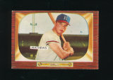 1955 Bowman Baseball Card #103 Hall of Famer Eddie Mathews Milwaukee Braves
