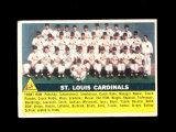 1956 Topps Baseball Card #134 St Louis Cardinals Team. VG-EX to EX Conditio