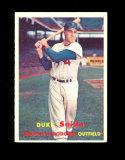 1957 Topps Baseball Card #170 Hall of Famer Duke Snider Brooklyn Dodgers. E
