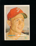 1957 Topps Baseball Card #265 Harvey Haddix Philadelphia Phillies. Has smal