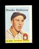 1958 Topps Baseball Card #307 Hall of Famer Brooks Robinson Baltimore Oriol