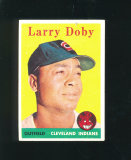 1958 Topps Baseball Card #424 Hall of Famer Larry Doby Clevelnd Indians. EX