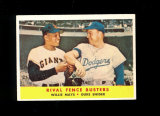 1958 Topps Baseball Card #436 Rival Fence Busters Hall of Famers Mays and S