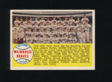 1958 Topps Baseball Card #377 CheckList/Milwaukee Braves Team Alphabetical