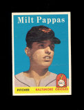 1958 Topps ROOKIE Baseball Card #457 Rookie Milt Pappas Baltimore Orioles.
