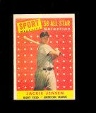 1958 Topps All Star Baseball Card #489 Jackie Jensen Boston Red Sox. EX-MT