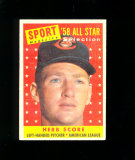 1958 Topps All Star Baseball Card #495 Herb Score Cleveland Indians. EX-MT