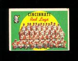 1959 Topps Baseball Card #111 CheckList/Cincinnati Redlegs Team. Lighly Che