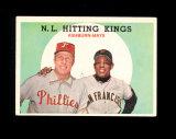 1959 Topps Baseball Card #317 N.L. Hitting Kings Ashburn-Mays. EX to EX-MT