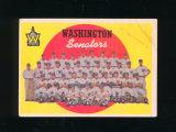 1959 Topps Baseball Card #397 CheckList/Washington Senators. VG-EX to EX Co