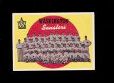 1959 Topps Baseball Card #397 CheckList/Washington Senators. EX to EX-MT Co