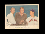 1959 Feer Ted Williams #75 Williams' Value to Red Sox.  EX to EX-MT Conditi