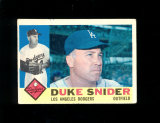 1960 Topps Baseball Card #493 Hall of Famer Duke Snider Los Angeles Dodgers