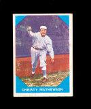 1960 Fleer Baseball Card #2 Hall of Famer Christopher Mathewson New York Ya