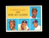 1961 Topps Baseball Card #43 National League 1960 Home Run Leaders Aaron, B