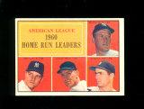 1961 Topps Baseball Card #44 American League 1960 Home Run Leaders Maris, M