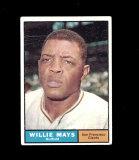 1961 Topps Baseball Card #150 Hall of Famer Willie Mays San Francisco Giant