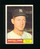 1961 Topps Baseball Card #160 Hall of Famer Whitey Ford New York Yankees .