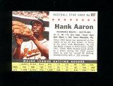 1961 Post Cereal Baseball Card Hank Aaron Milwaukee Braves. Hand Cut Authen
