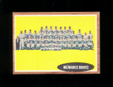 1962 Topps Baseball Card #158 Milwaukee Braves Team EX to EX-MT Condition.
