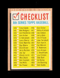 1962 Topps Baseball Card #441 CheckList EX-MT to NM Condition.