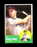 1963 Topps Baseball Card #25 Hall of Famer Al Kaline Detroit Tigers.  EX to