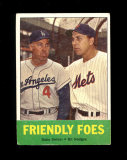 1963 Topps Baseball Card #68 Friendly Foes Hall of Famers Snider-Hodges.  D