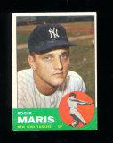 1963 Topps Baseball Card #120 Roger Maris New York Yankees.  EX to EX-MT Co