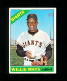 1966 Topps Baseball Card #1 Hall of Famer Willie Mays San Francisco Giants.