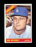 1966 Topps Baseball Card #430 Hall of Famer Don Drysdale Los Angeles Dodger
