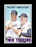 1967 Topps Baseball Card #334 Twin Terrors Allison-Killebrew. Has ink Marks