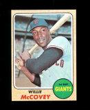 1968 Topps Baseball Card #290 Hall of Famer Willie McCovey San Francisco Gi