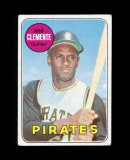 1969 Topps Baseball Card #50 Hall of Famer Roberto Clemete Pittburgh Pirate