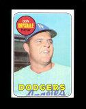 1969 Topps Baseball Card #400 Hall of Famer Don Drysdale Los Angeles Dodger
