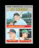 1970 Topps Baseball Card #64 American League R.B.L. Leaders Killebrew, Powe