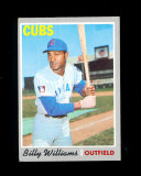 1970 Topps Baseball Card #170 Hall of Famer Billy Williams Chicago Cubs. EX