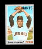 1970 Topps Baseball Card #210 Hall of Famer Juan Marichal San Francisco Gia