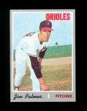1970 Topps Baseball Card #449 Hall of Famer Jim Palmer Baltimore Orioles .